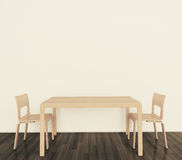 Modern interior table and chairs stock photography