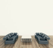 Modern interior table and chairs Royalty Free Stock Photo