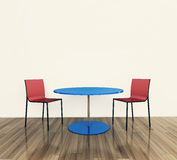 Modern interior table and chairs Royalty Free Stock Photography