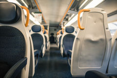 A modern interior train wagon Stock Photos