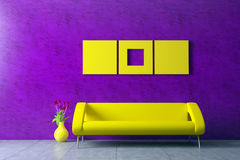 Modern interior with venetian stucco wall Stock Photography