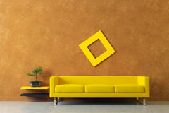 Modern interior with venetian stucco wall Stock Images