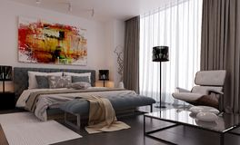 Modern interior visualization 3 Royalty Free Stock Images