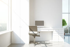 Modern interior with white workplace Stock Image