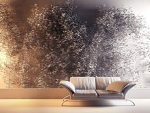 Modern interior with wine plant gypsum Stock Photo