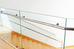 Modern interior with wooden stairs Royalty Free Stock Photography