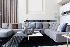 Modern interiors. Living-room with the modern furniture Stock Image
