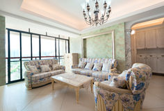 Modern interiors with sofa and table Royalty Free Stock Photography