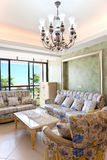 Modern interiors with sofa and table Stock Images