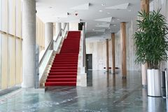 Modern interiors with stairs royalty free stock image