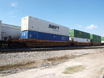 A Modern Intermodal Shipment Royalty Free Stock Images