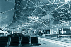 Modern international airport interior Royalty Free Stock Images