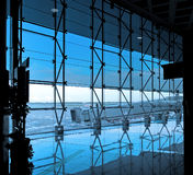 Modern international airport terminal Royalty Free Stock Photos