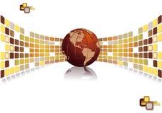 Modern international business brochure design Stock Photos