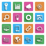 Modern Internet Marketing Icons Stock Images