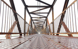 Modern iron bridge. Stock Photos