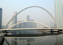 Modern iron bridge Royalty Free Stock Image