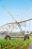 Modern irrigation system on a farm Stock Photography