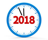 Clock 2018, whole Royalty Free Stock Photos