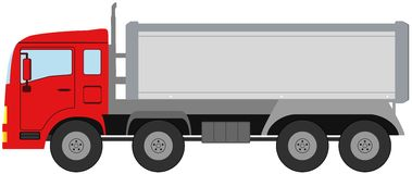 Modern isolated truck Stock Photo
