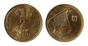 Modern Israeli coins Stock Photo