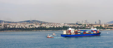 The modern Istanbul and the Bosphorus, Turkey Stock Images