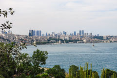 The modern Istanbul and the Bosphorus, Turkey Stock Image