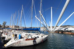 Modern Italian harbour Royalty Free Stock Photography