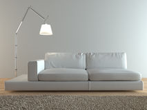 Modern Italian sofa interior Royalty Free Stock Photography