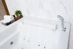 Modern jacuzzi bathtub Stock Photos
