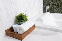 Modern jacuzzi bathtub Royalty Free Stock Images