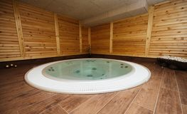 Modern jacuzzi is good for general health. Modern jacuzzi in spa resort is good for general health royalty free stock image