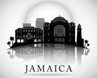Modern Jamaïca-Horizonontwerp Vector Silhouet Stock Foto's