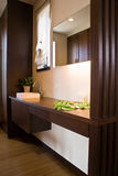 Modern Japanese bathroom Royalty Free Stock Image
