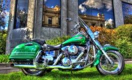 Modern Japanese Kawasaki motorcycle Stock Photo