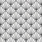 Modern Japanese motif. Interlocking triangles tessellation background. Image with repeated scallops. Fish scale. royalty free illustration