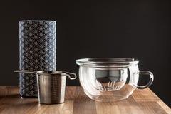 Modern japanese tea making set Royalty Free Stock Photo