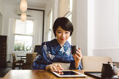 Modern Japanese woman Royalty Free Stock Photos