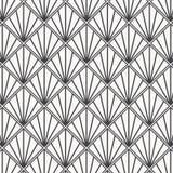 Modern Japans motief De met elkaar verbindende achtergrond van driehoekentessellation Beeld met herhaalde kammosselen Vissenschaa royalty-vrije illustratie