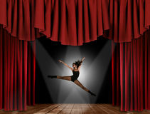 Modern Jazz Street Dancer Jumping Royalty Free Stock Photos