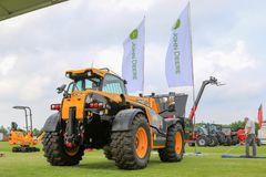 Modern jcb loadall parked at a show Stock Images