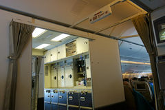 Modern Jet Aircraft Galley Royalty Free Stock Photos