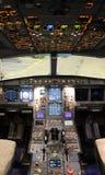 Modern jet cockpit Stock Photos