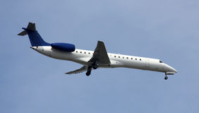 Modern jet landing Stock Photography