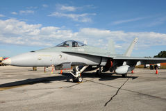 Modern jetfighter. State of the art fighter jet on the ground Royalty Free Stock Photo