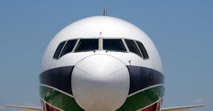 Modern jetliner closeup Stock Photo