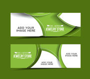 Modern Jewelry Store Design Banner Royalty Free Stock Photo