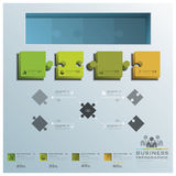 Modern Jigsaw Puzzle Business Infographic Background. Design Template Royalty Free Stock Photo