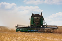 Modern john Deere combine at harvest time Royalty Free Stock Photography