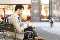 Modern jong zakenmanportret Royalty-vrije Stock Foto
